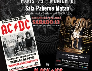 Sábado 13-feb. REMEMBER AC/DC en la Sala Paberse Matao, Valencia.